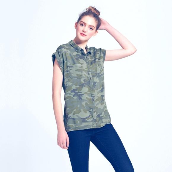 Mossimo Supply Co. Tops - Summer Women's Camo Print Green  Muscle Shirt S